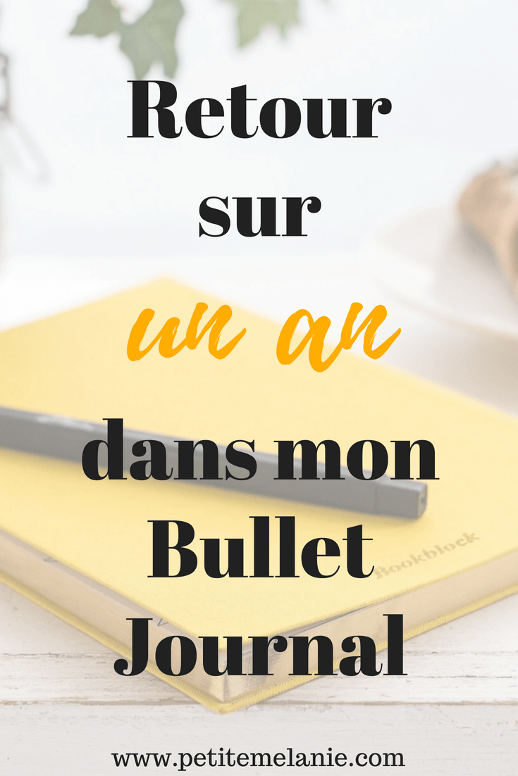 retour un an bullet journal