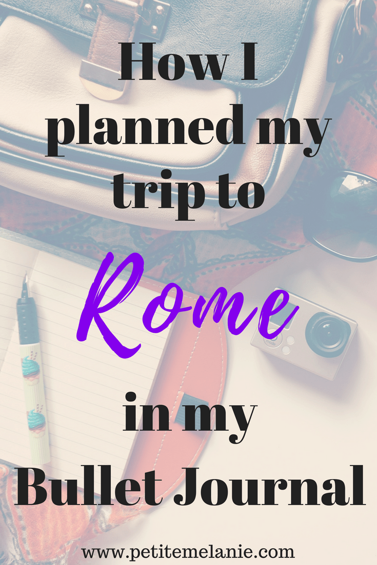 rome traveling bullet journal