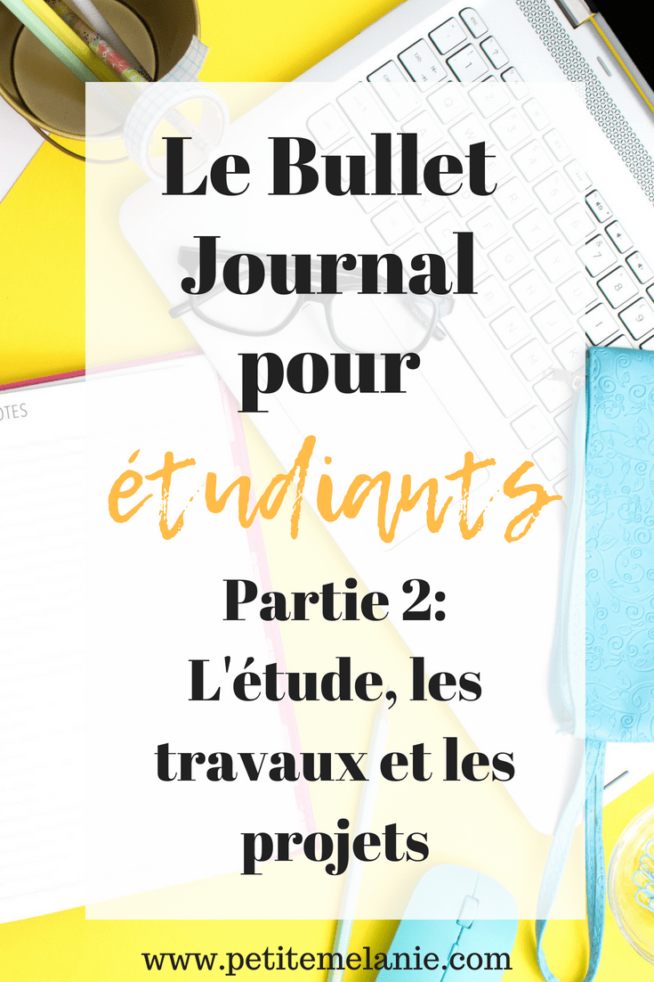 bullet journal étudiants examens