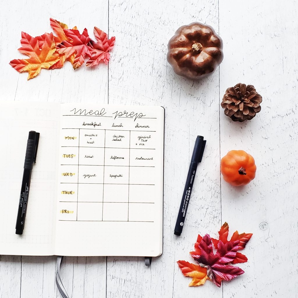 meal planning bullet journaling students 3