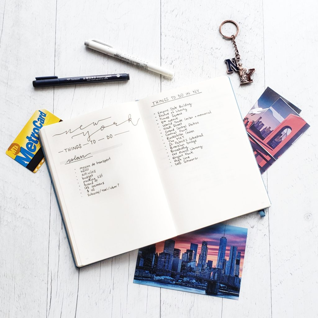 How I planned my trip to New York in my Bullet Journal | Petite Mélanie