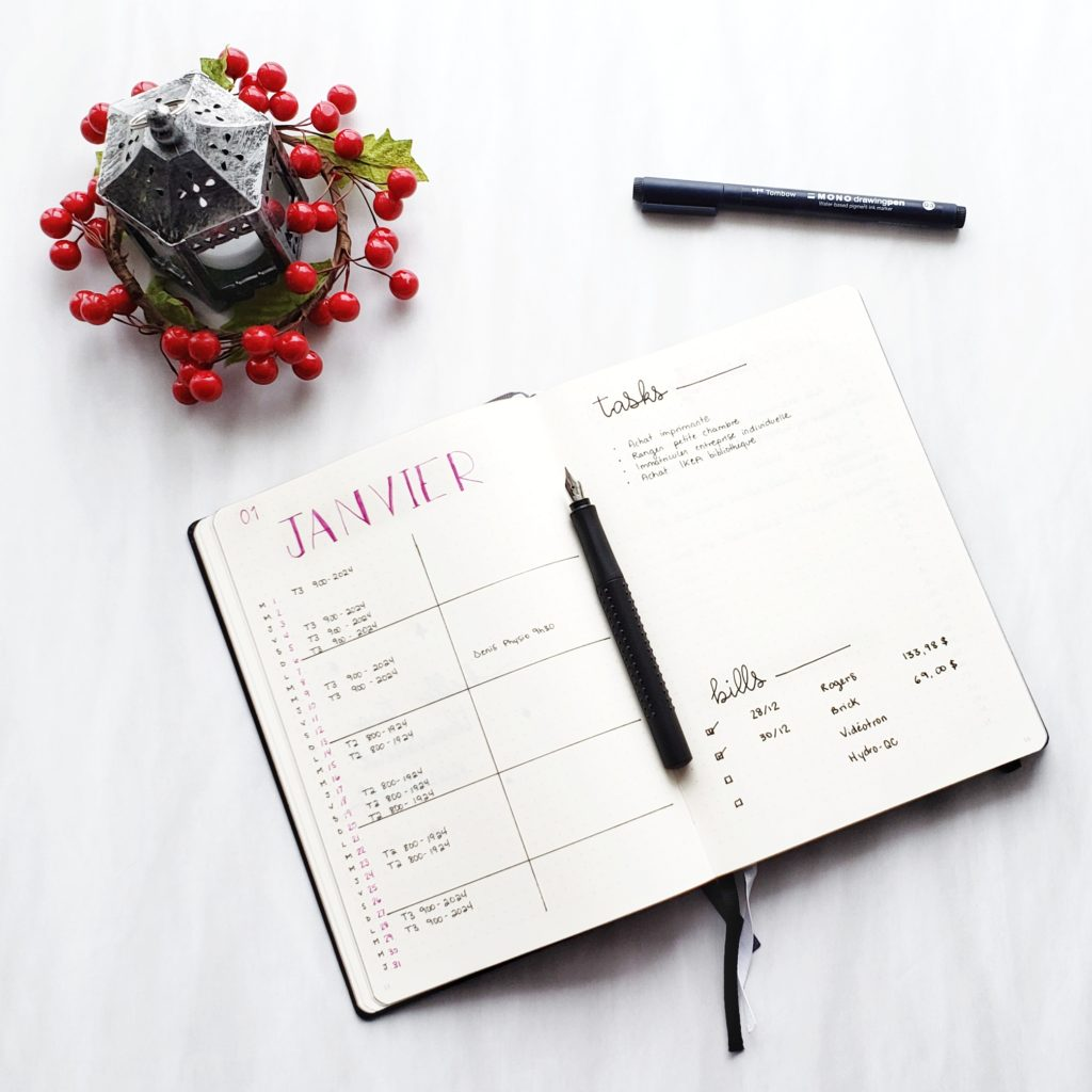 Plan With Me: A new Bullet Journal in January 2019 | Petite Mélanie Here's my planning for 2019 in my new Bullet Journal. My Future Log, my 5, 4, 3, 2, 1 spread, my goals and my Reading Log. Then, my Monthly Log for January 2019, my Instagram tracker, tasks to do, my books to read.