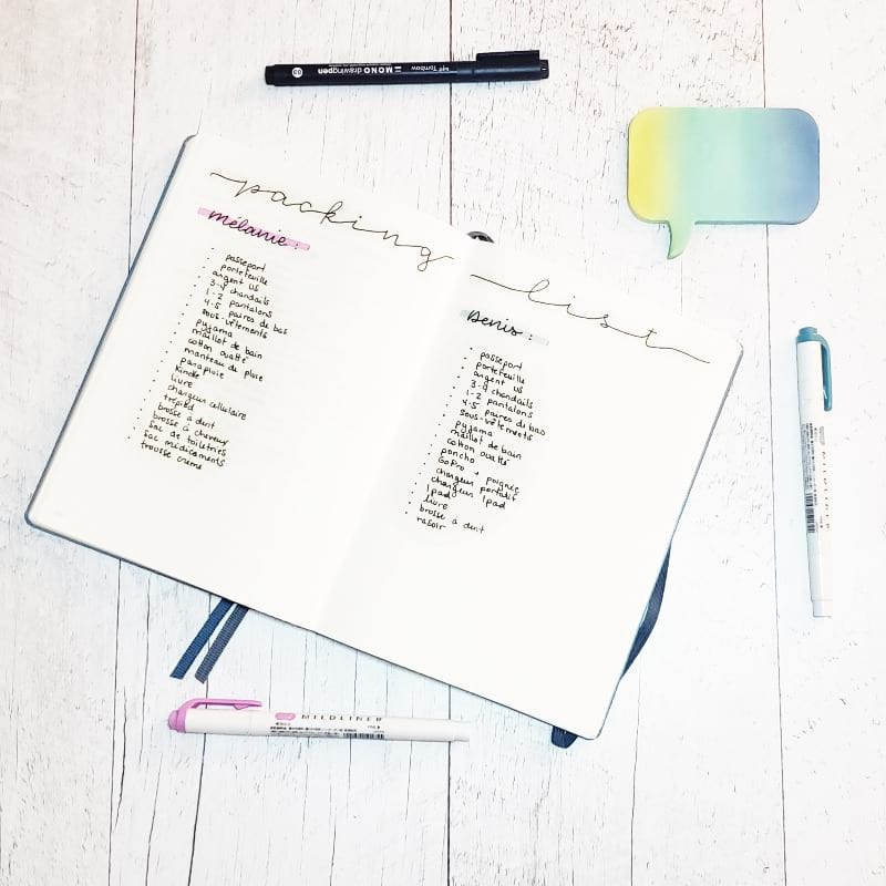 The Bullet Journal spreads you absolutely need to plan your next vacation   Petite Mélanie Here are the collections you ABSOLUTELY need to plan your next vacation. Going away soon? Don't wait any longer and get your trip ready in your Bullet Journal!