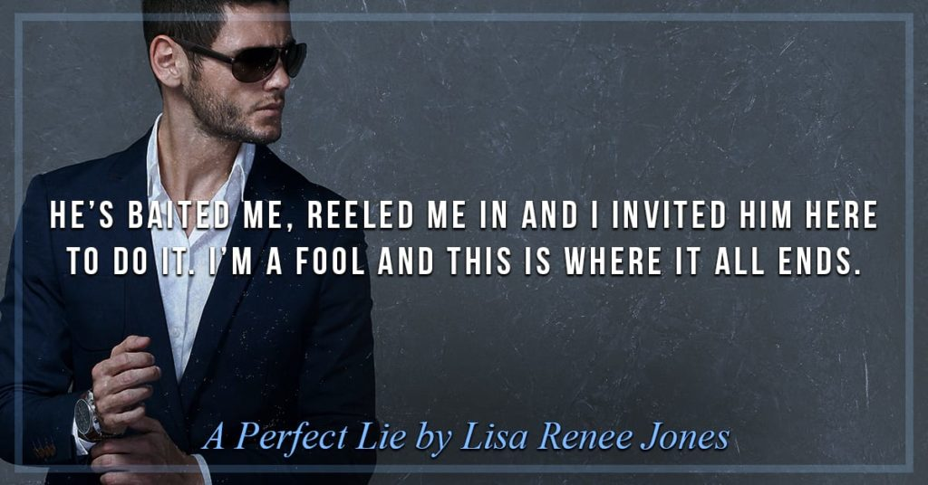 A Perfect Lie by Lisa Renee Jones | Book Review | Petite Mélanie Suspense thriller. A story of murder, high political stakes and lies. A must-read for all suspense/thriller fans! Four stars!