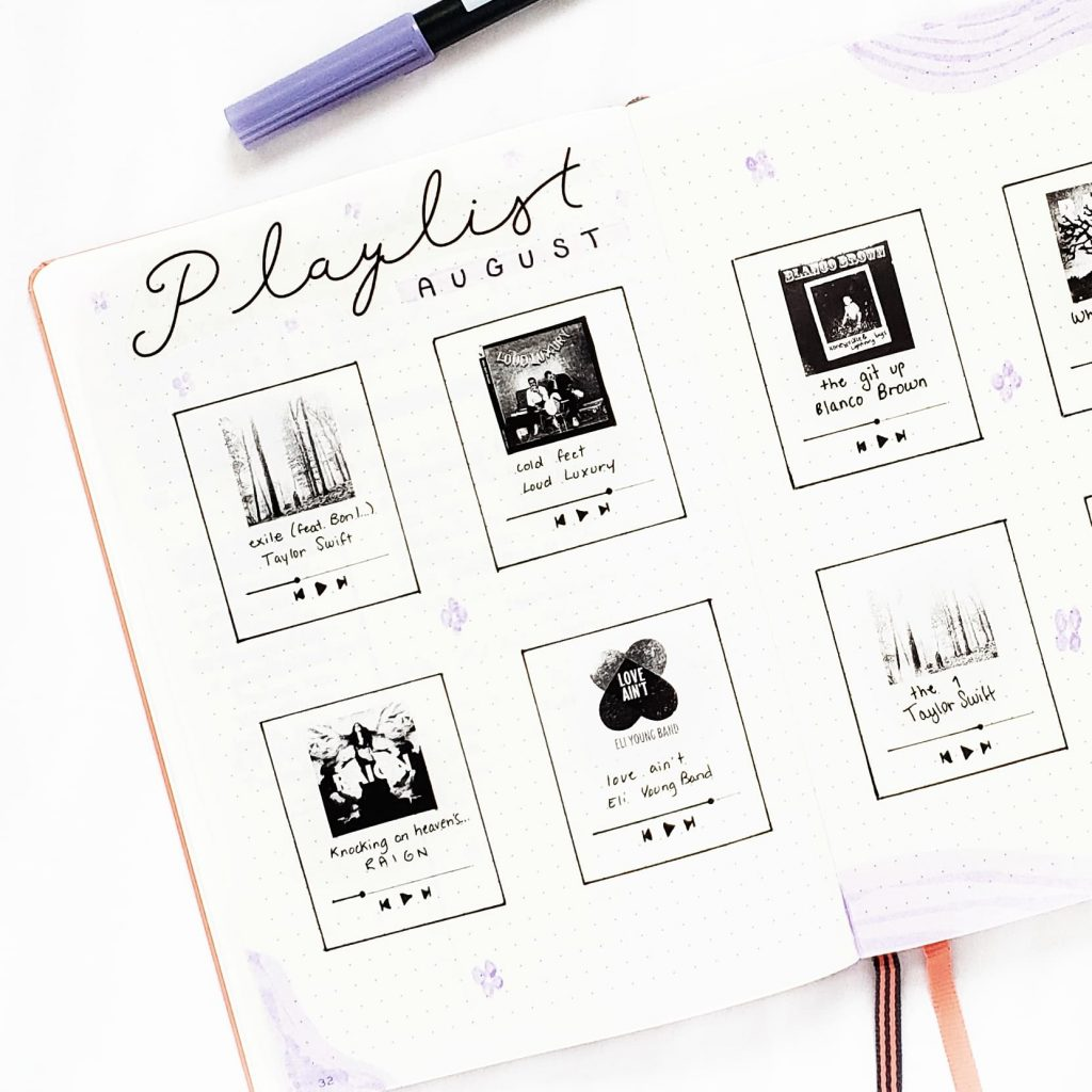 playlist spread music page poooliprint